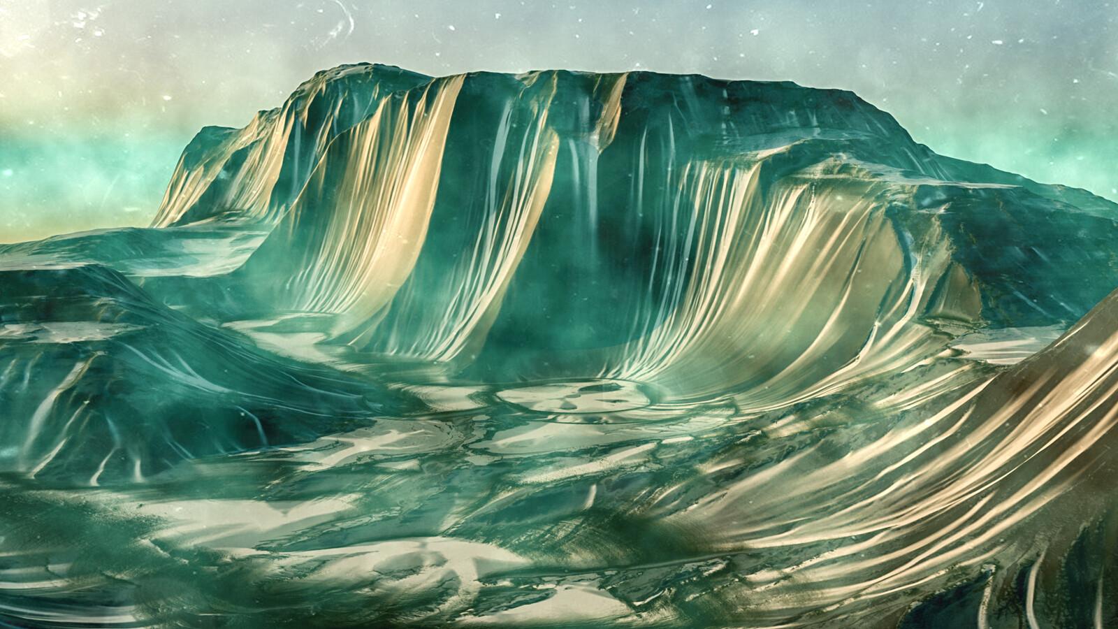 Fantasy cliffs concept