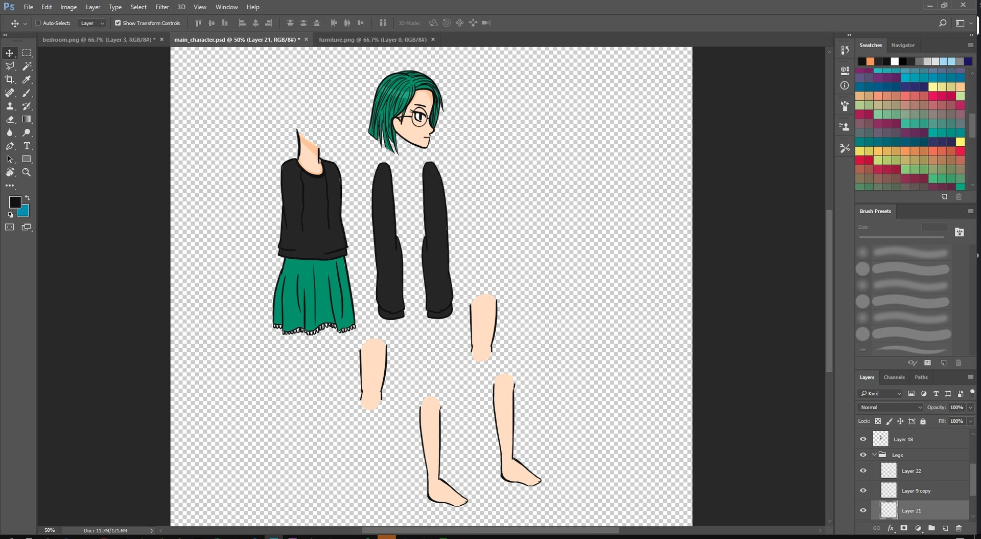 Creating Green and preparing to animate her.
