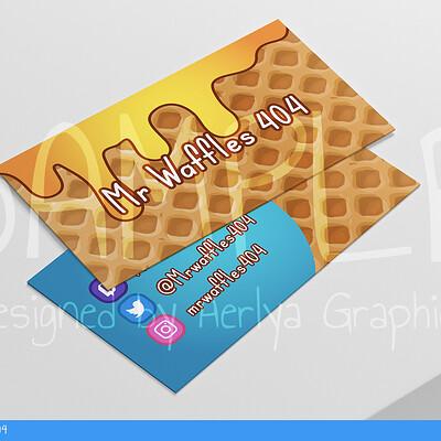 Aerlya graphics sample businesscard mrwaffle404