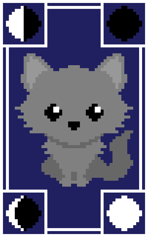 I took my vector design and turned it into 50x80 pixel art (exported here at 10x), with each pixel intended to become a square in the final product. I'm really happy with how well this worked.