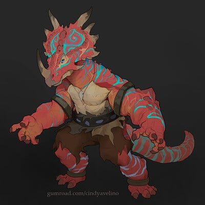 Cindy avelino styracosaurus male base