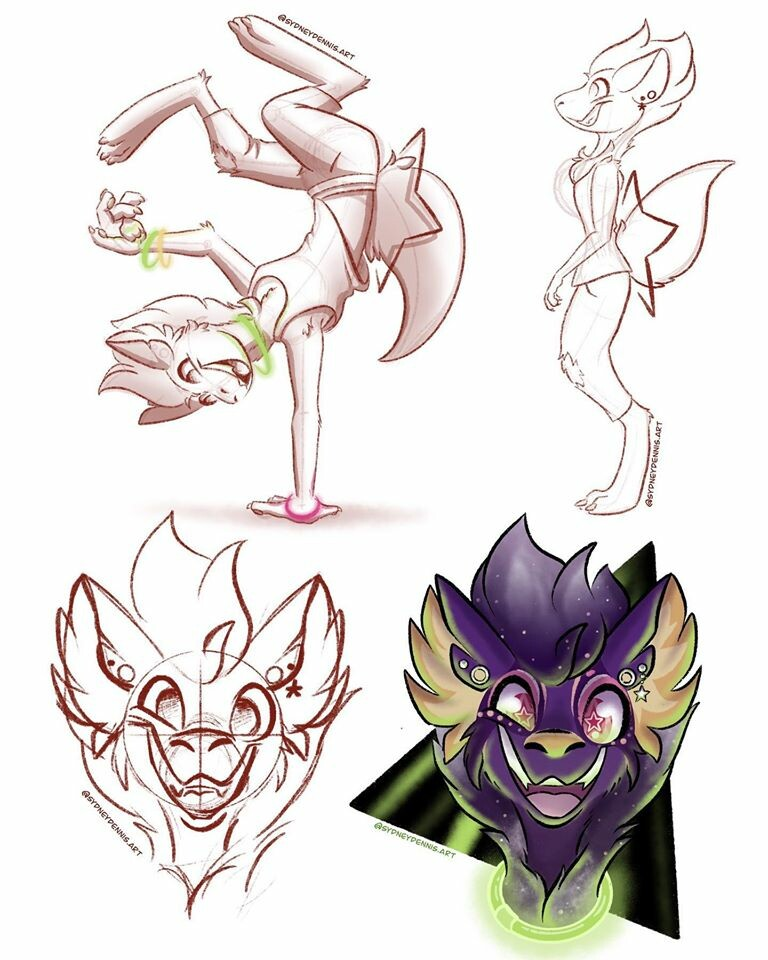Character Rave Sketches