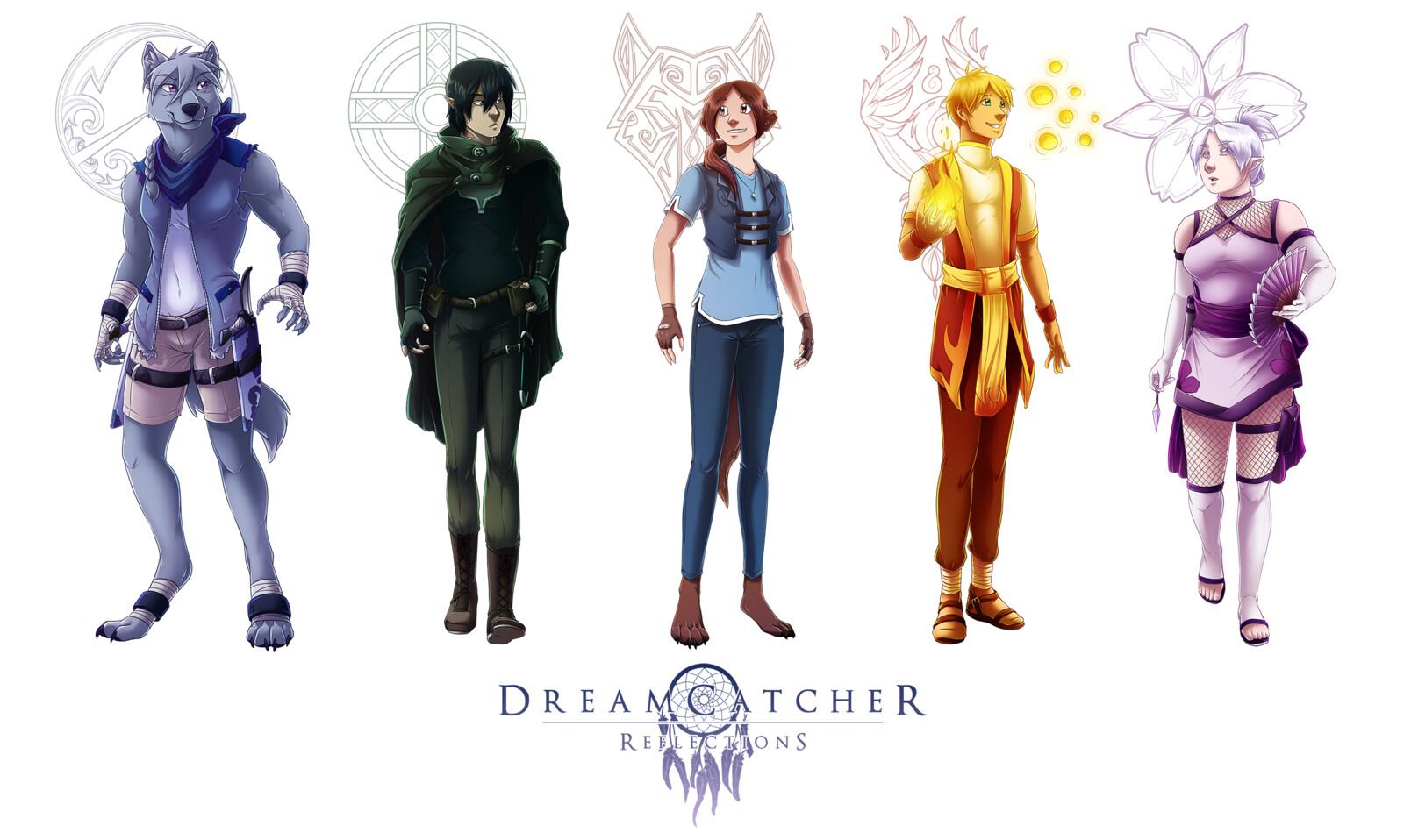 DreamCatcher: Reflections Character Designs