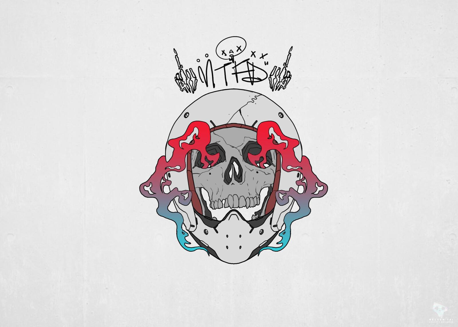 motofridayz helmet skull graphic xx