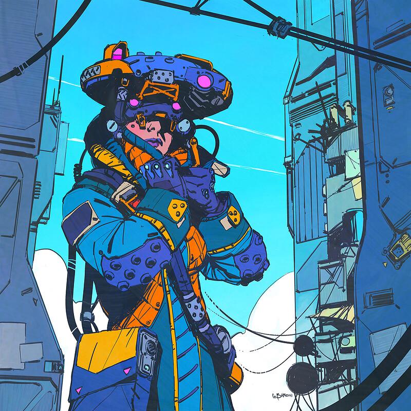 Procreate 5 - Cyberpunk Girl