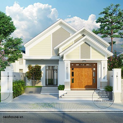 Neohouse architecture thiet ke biet thu vuon mai ngoi 1 tang 1