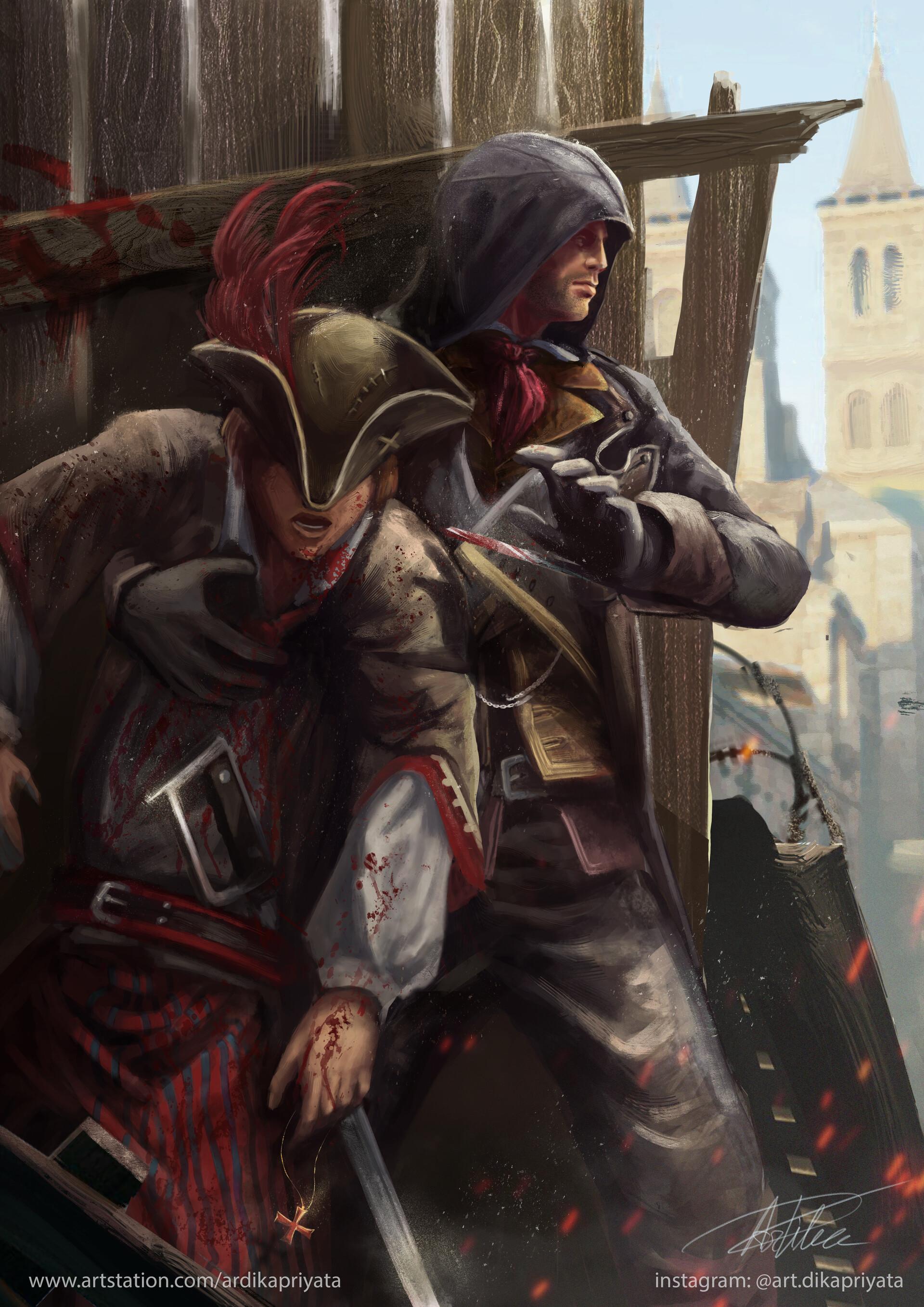 Artstation Arno Dorian Assassin S Creed Unity Fanart Ardika Priyata