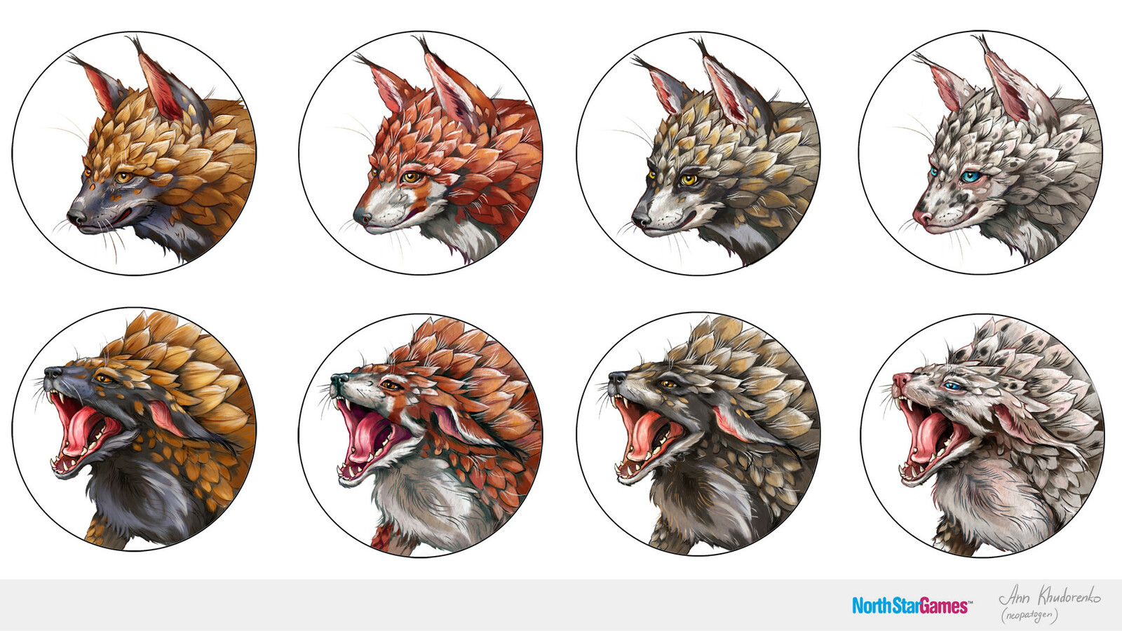 Evolution: Pangolin fox Avatars