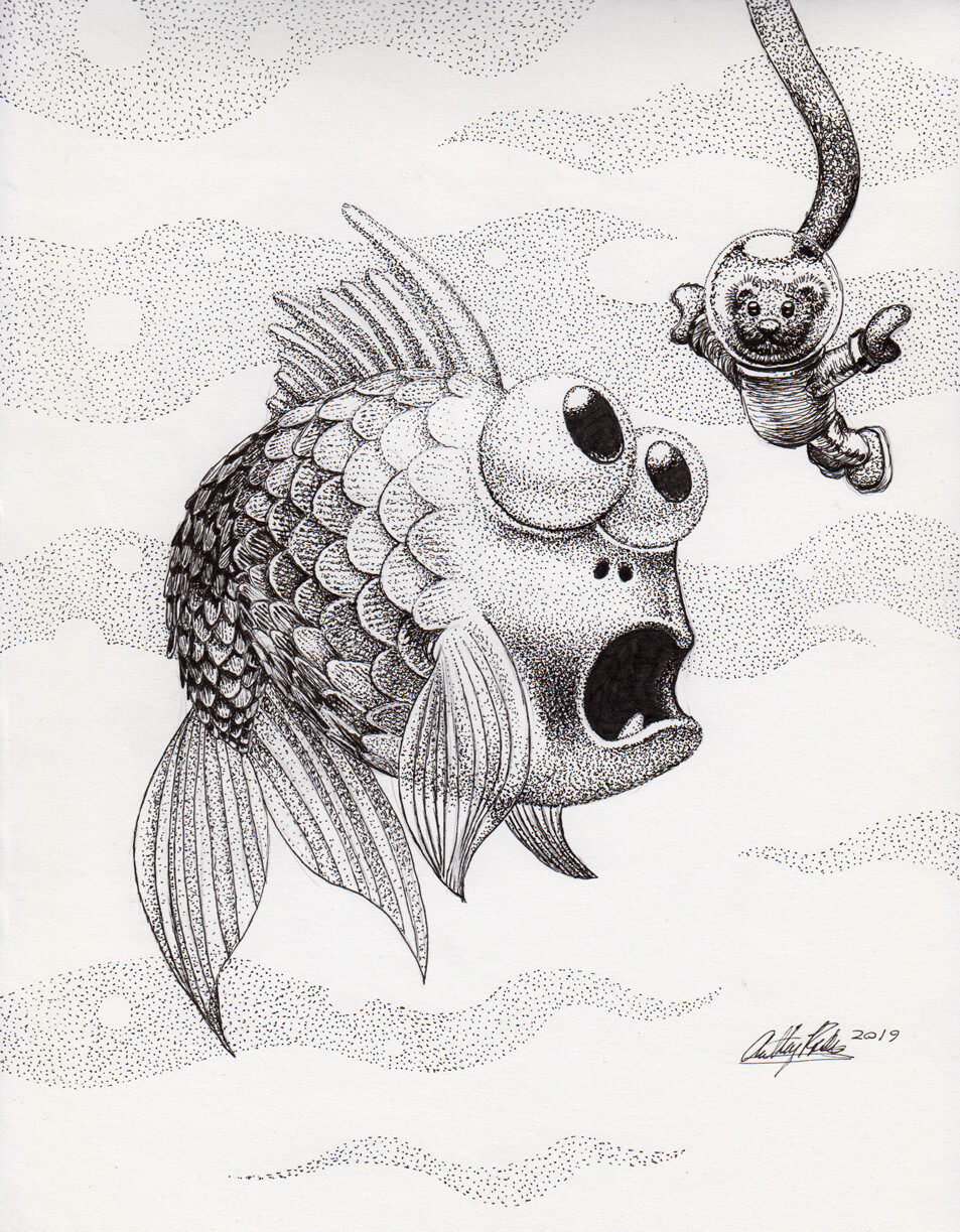 Startled Fish