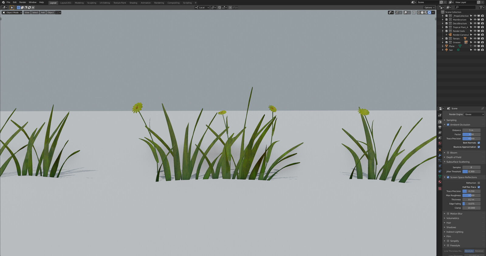 Enchanted project Working Progress Assets Grasses