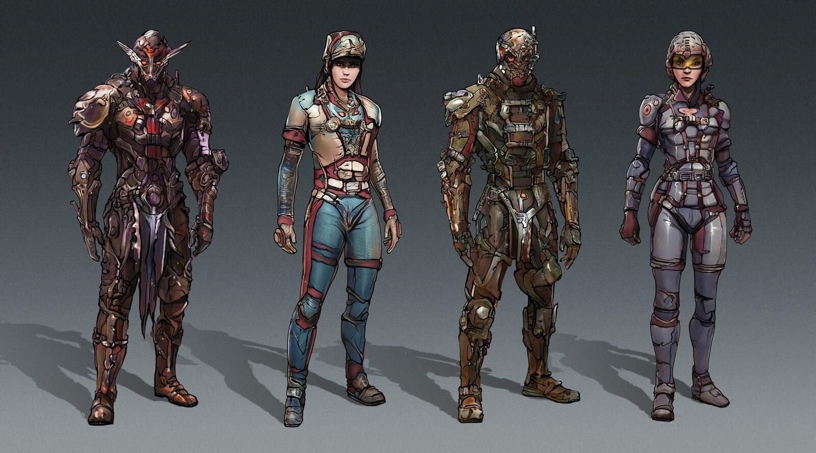 Artbreeder Character concepts.