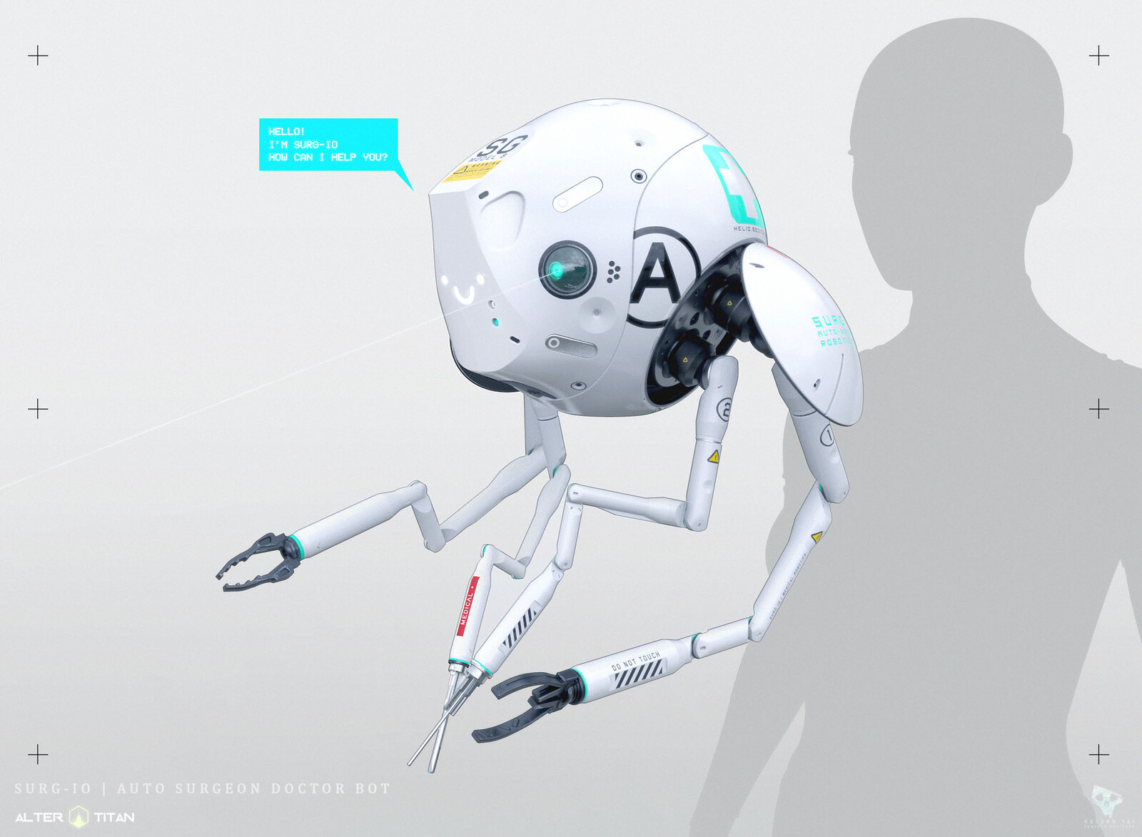 Hello! I'm SURG-IO. The autonomous surgical bot!