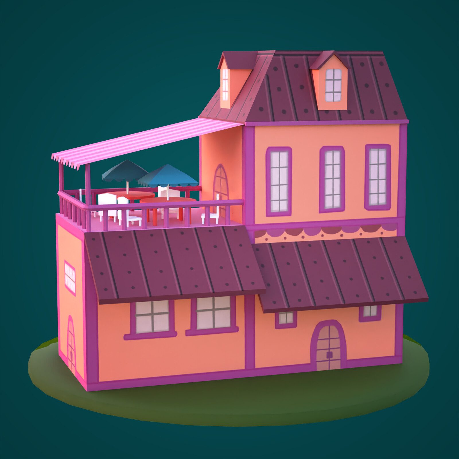 The Land of Ooo - Orange house
