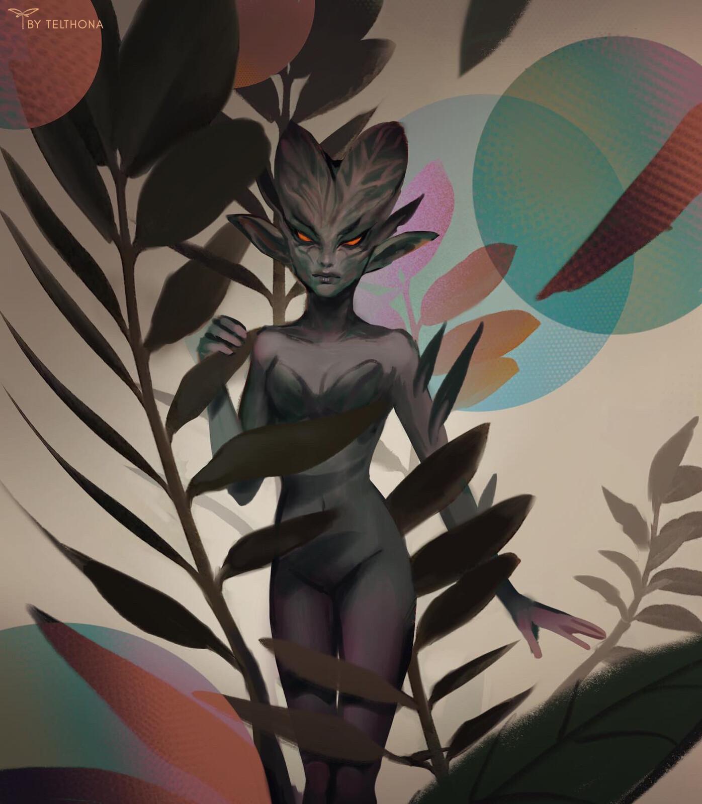 Spirit of Black Fern Arum