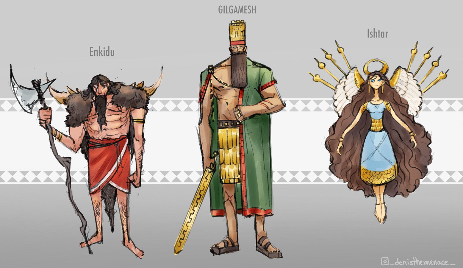 Epic of Gilgamesh - Character designs