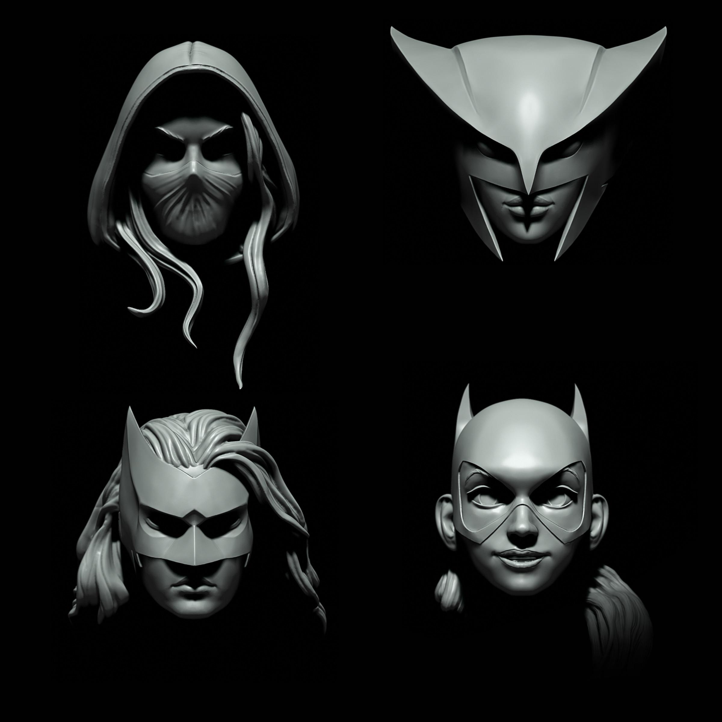 Spoiler/ Hawkgirl/ Batwoman/ Batgirl