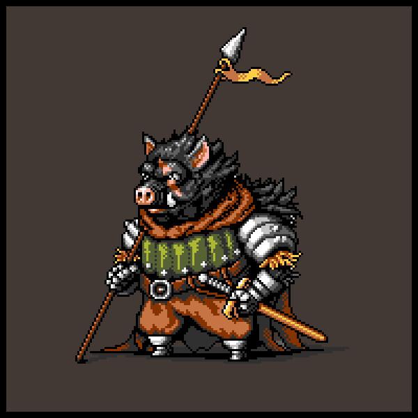 RPG Party - Warrior Boar