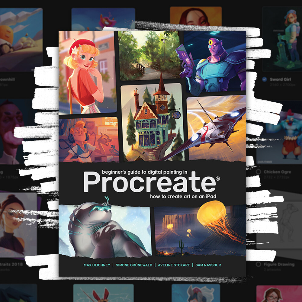 You can buy the book from  https://shop.3dtotal.com/beginners-guide-procreate