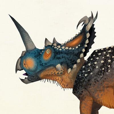 Johan egerkrans centrosaurus