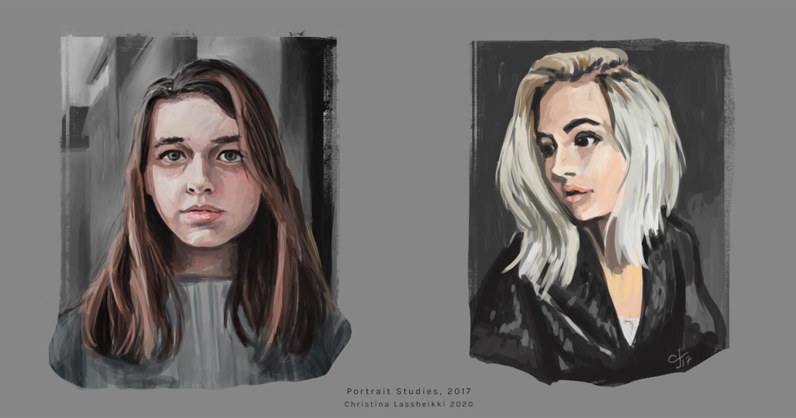 Digital painting studies, 2017.