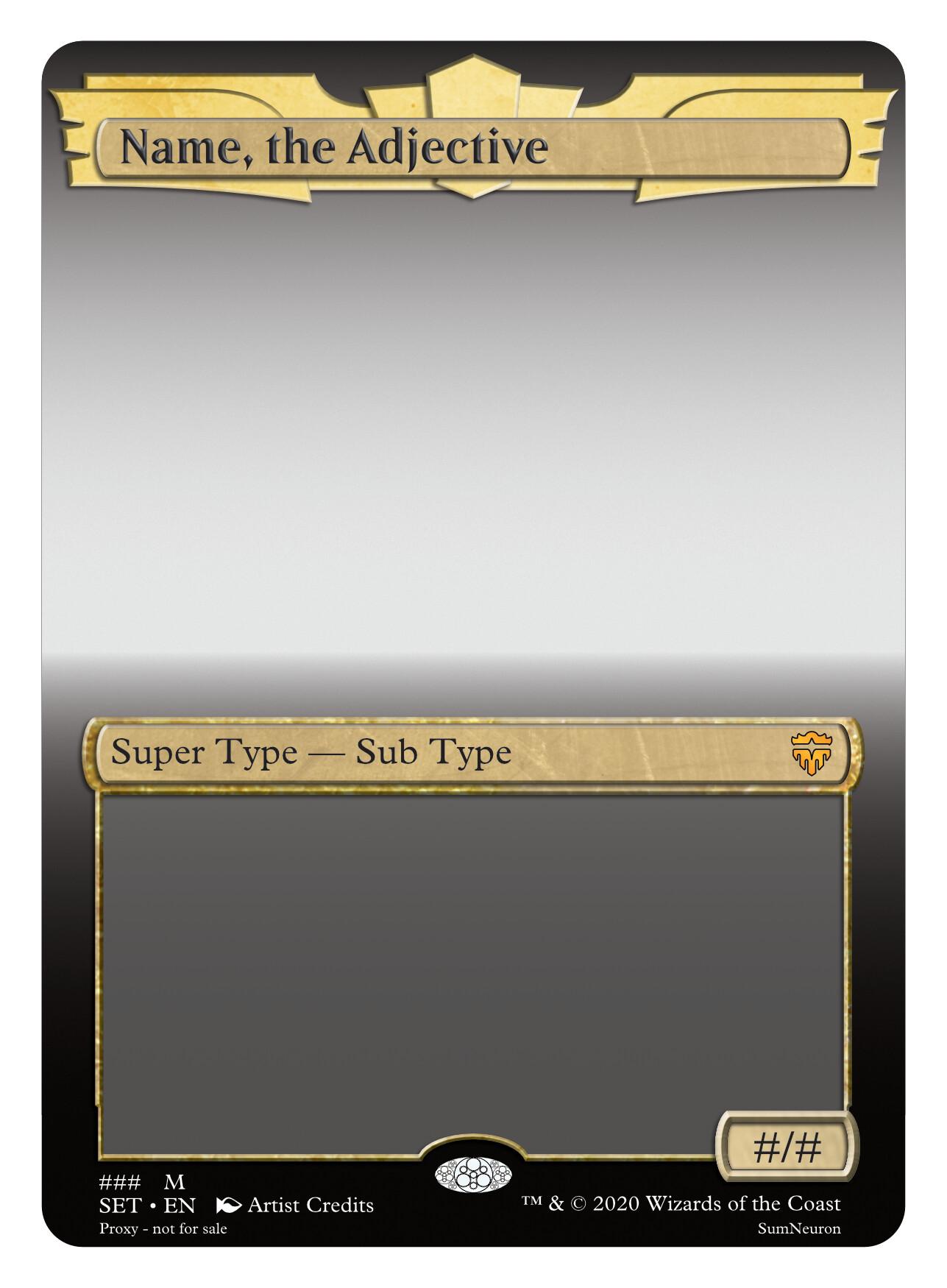 ArtStation - Brawl Arena Card Frame, Sumner Magruder Inside Blank Magic Card Template