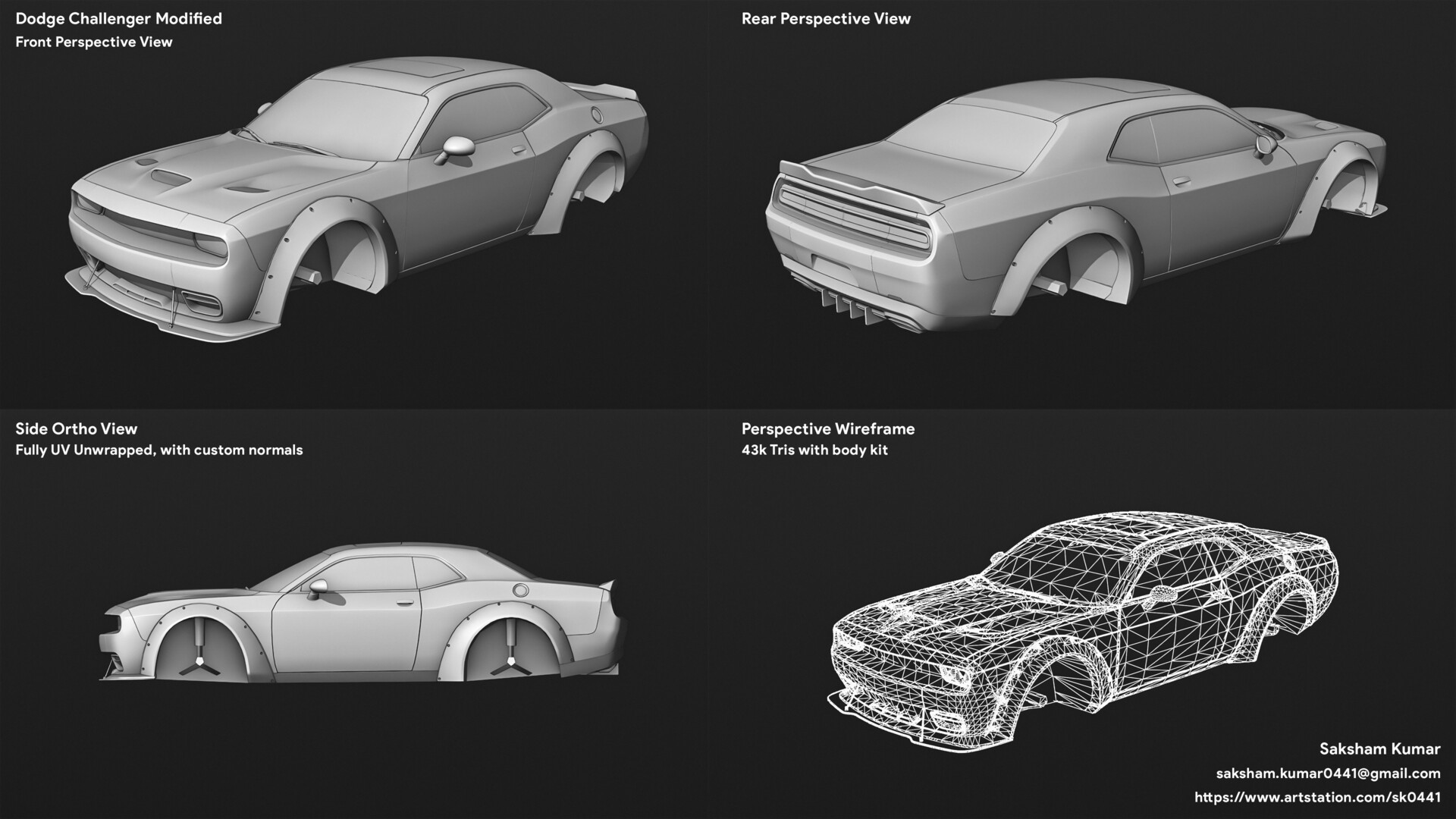 Dodge Challender Modified (43k tris)