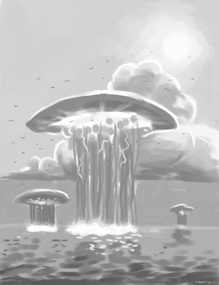 Rough monochrome sketch