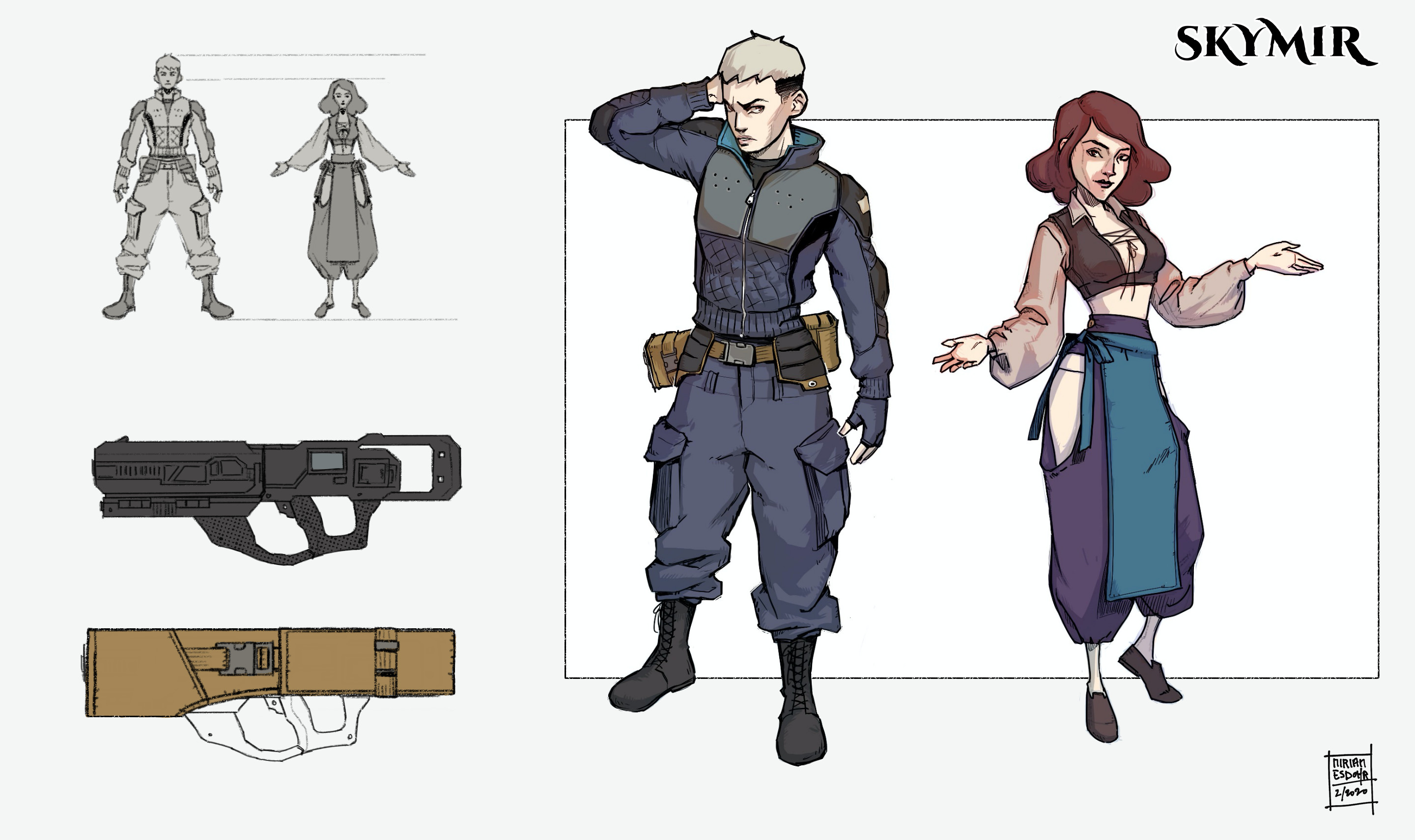 Final concepts of the two main characters