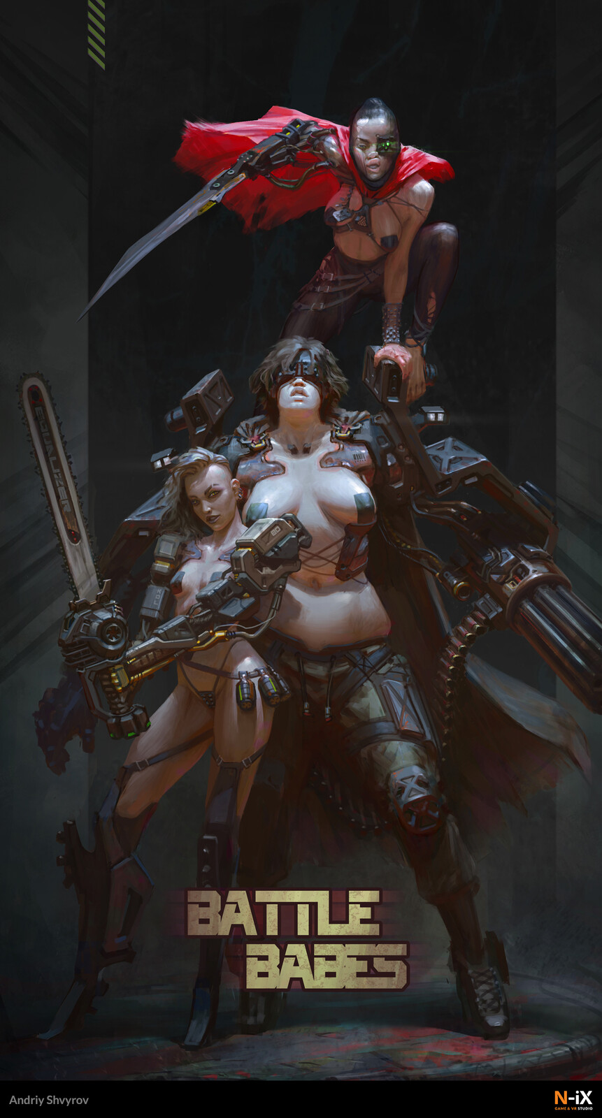 """The """"Battle Babes"""" poster by Andriy Shvyrov."""