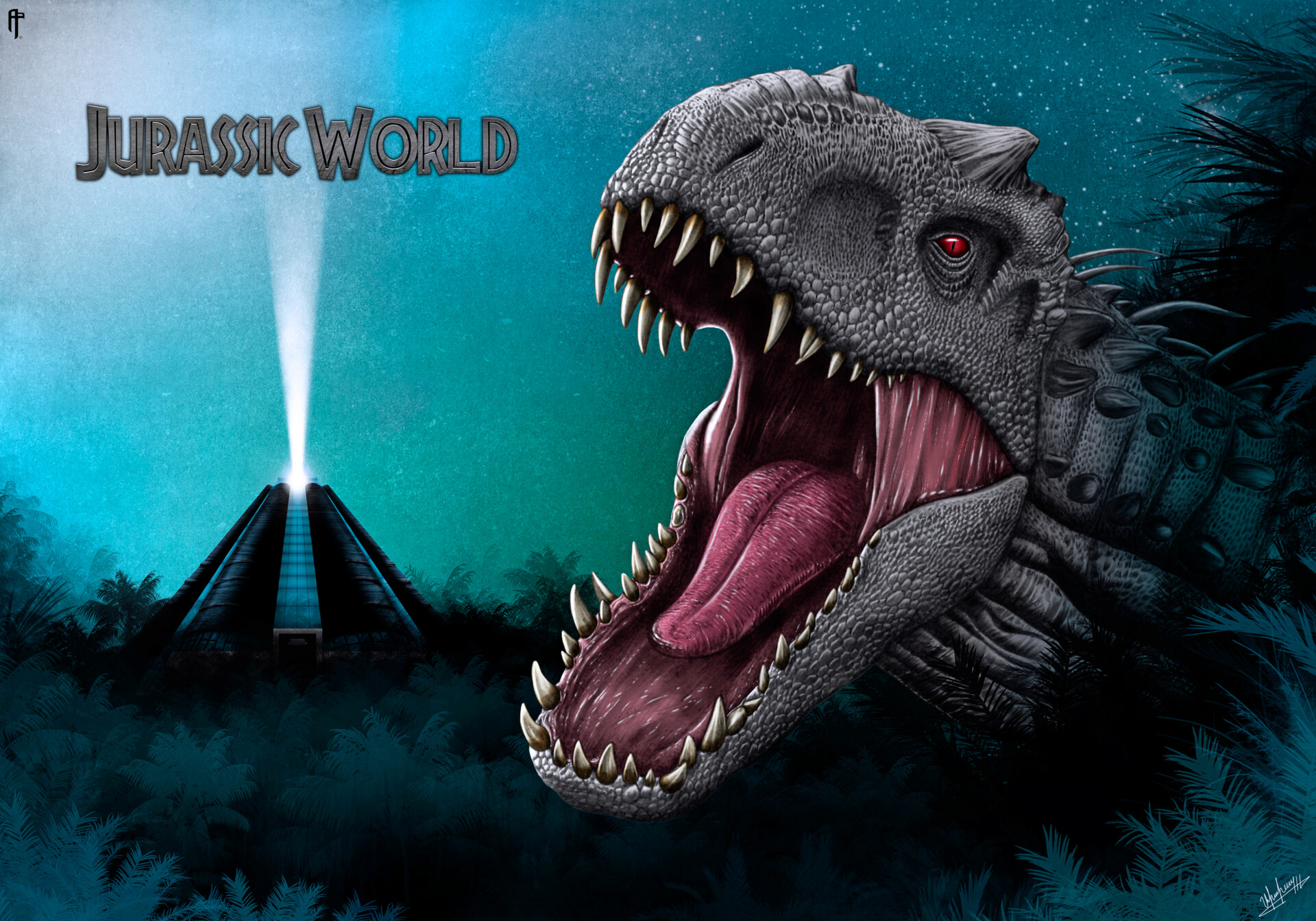 Aram Papazyan Jurassic World 2015 Digital Poster