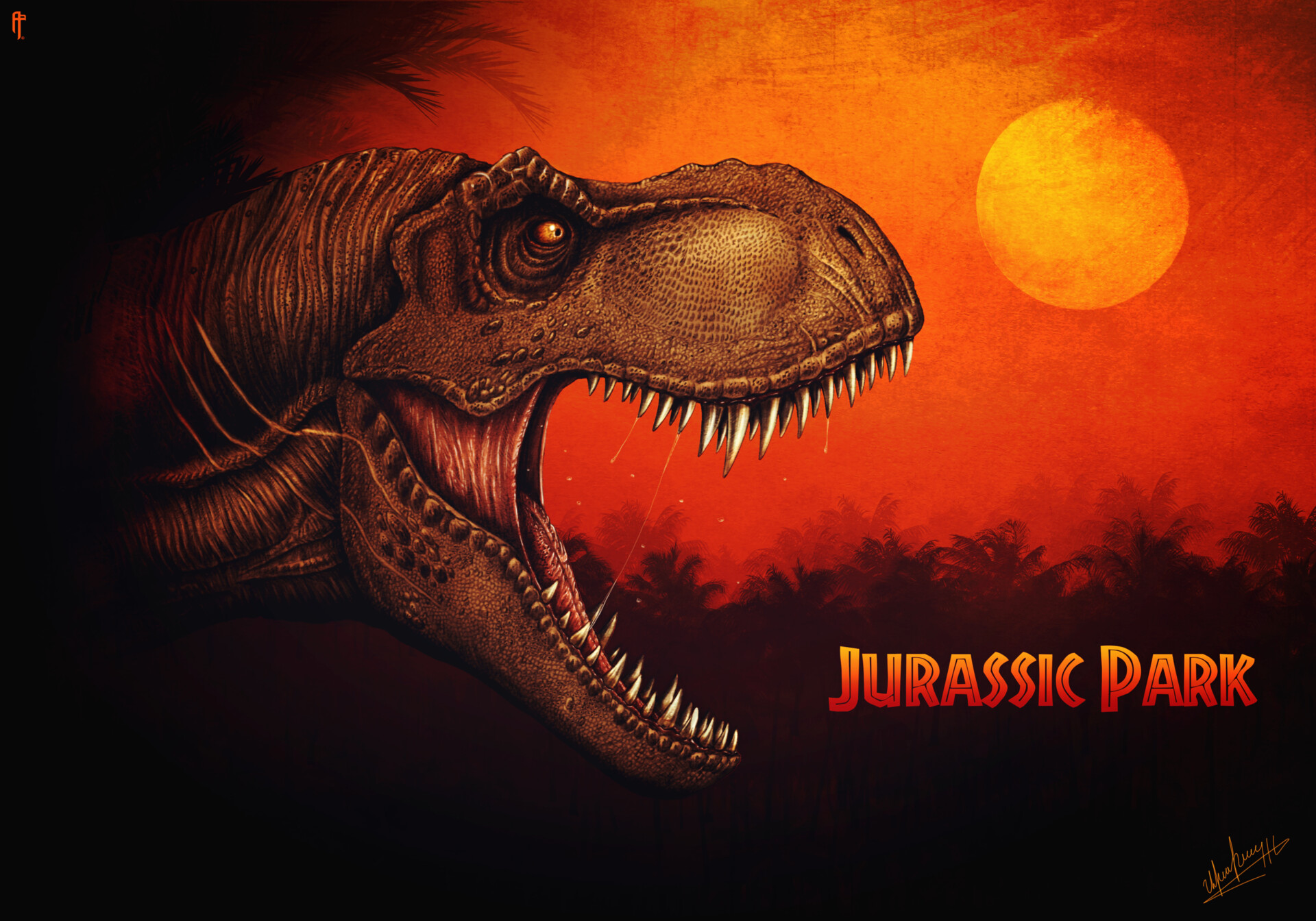 Artstation Jurassic Park 1993 Digital Poster Aram Papazyan