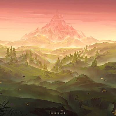Nele diel distant mountain