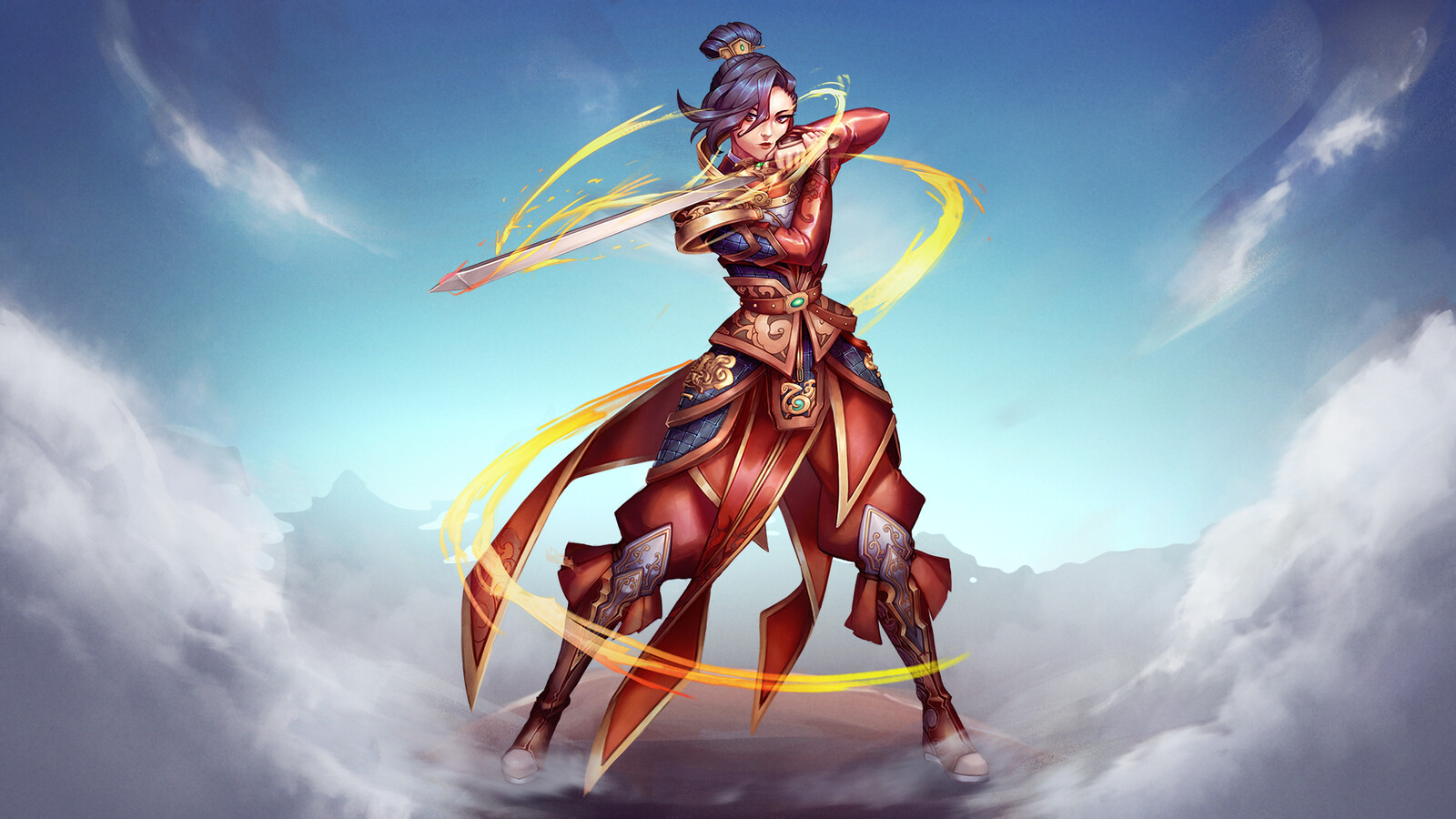 SMITE - Mulan Marketing Key Art