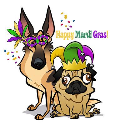 Steve rampton dog mardi gras