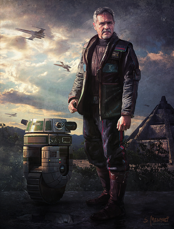 Actor Janos Csernak as a Rebel General