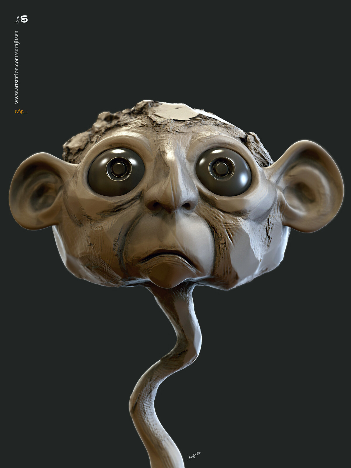 #doodle...in my free time. Kak...Digital Sculpture. Just played with brushes! Concept from my rough sketch book.