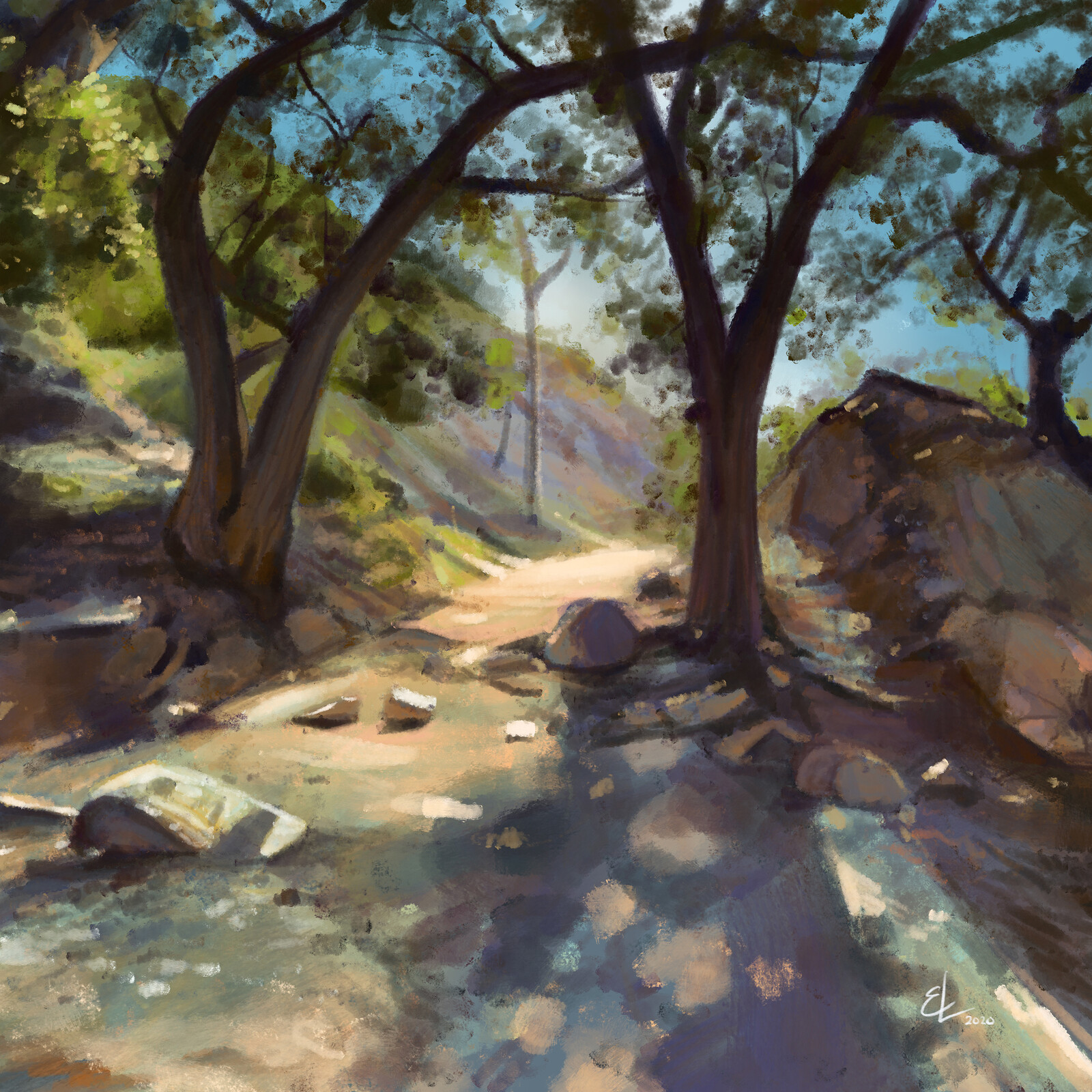 Eaton Canyon Falls - Quick Sketch