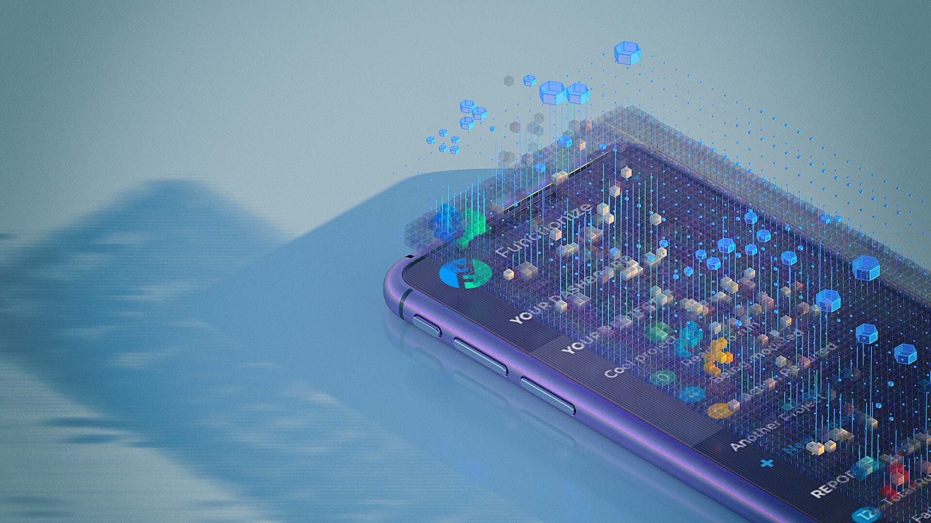 Mobile with voxels