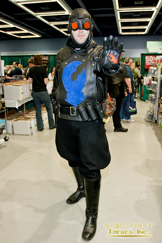 Lobster Johnson from Hellboy.