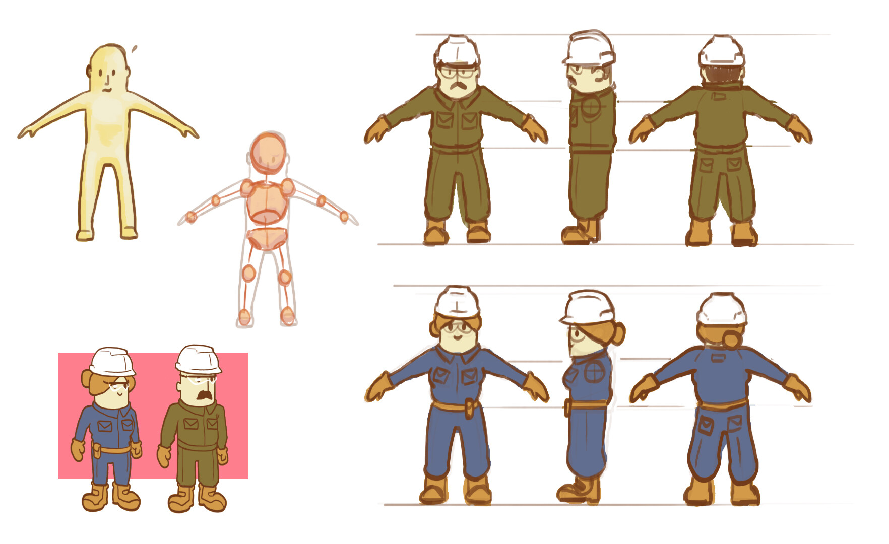 workers sketches