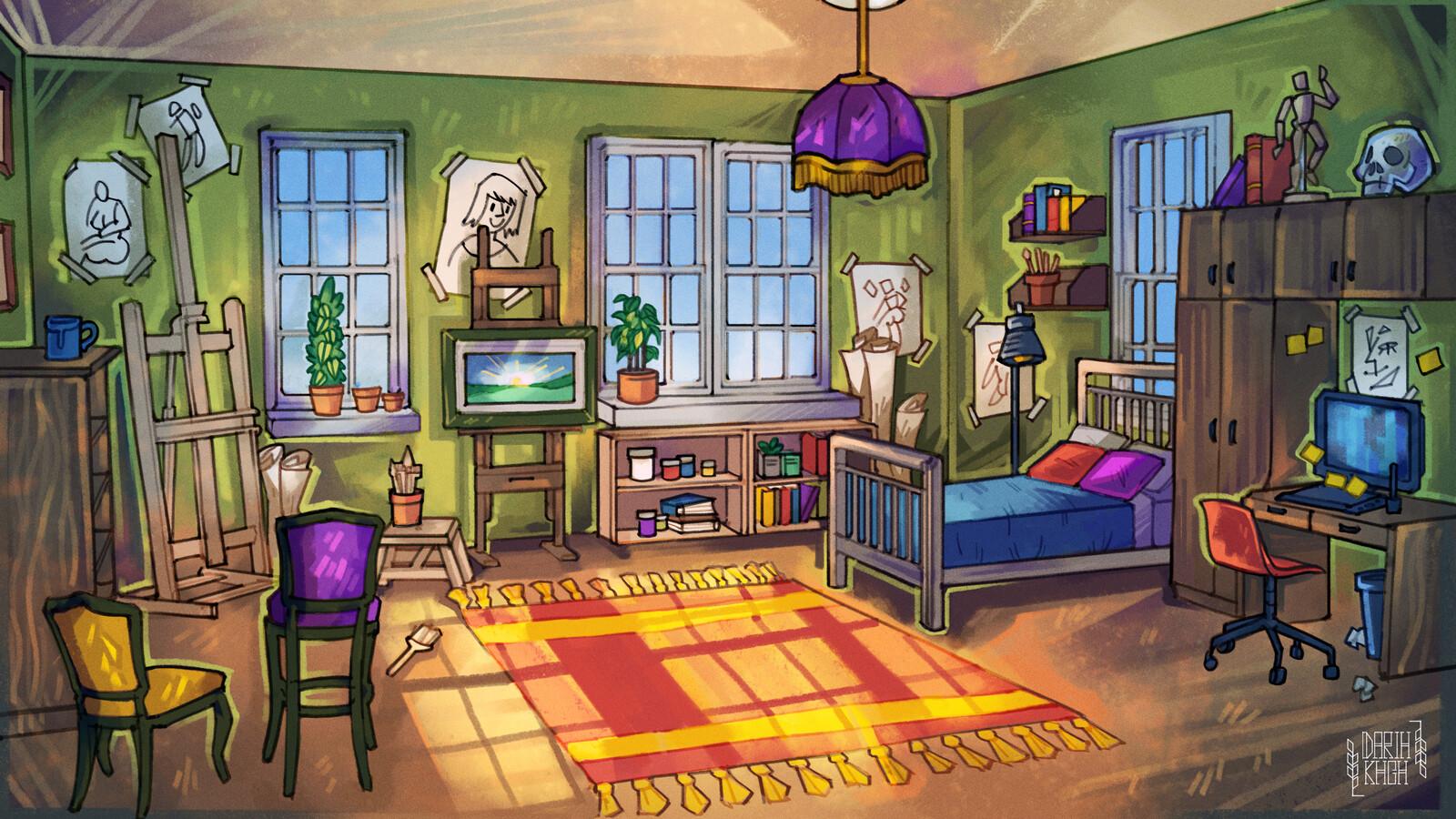 Artist S Room Daria Khodarovich Artstation