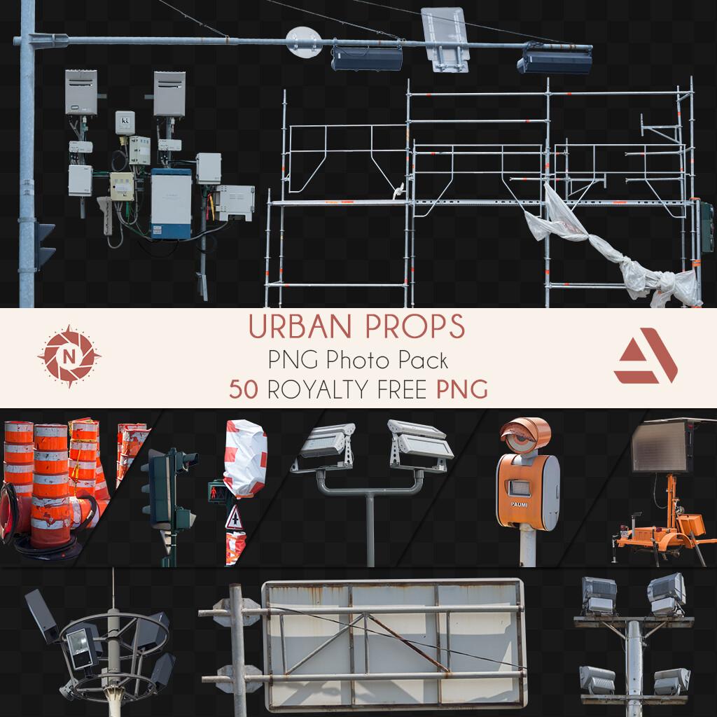 PNG Photo Pack: Urban Props  https://www.artstation.com/a/165710