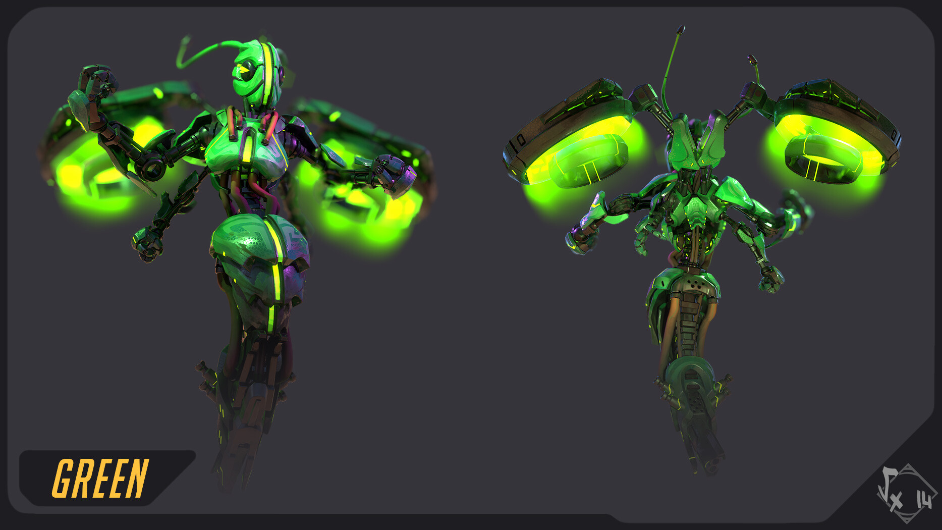 "Skin ""Green"", probably inspired by some Mantis ;)"