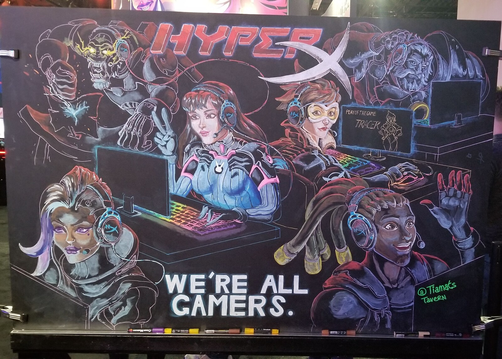 "I got the opportunity to work with HyperX at BlizzCon and it was the coolest thing I've ever done! I would do it again in a heartbeat. There's a lot I wish I could change or ""fix"" about this, but I'm proud of it."