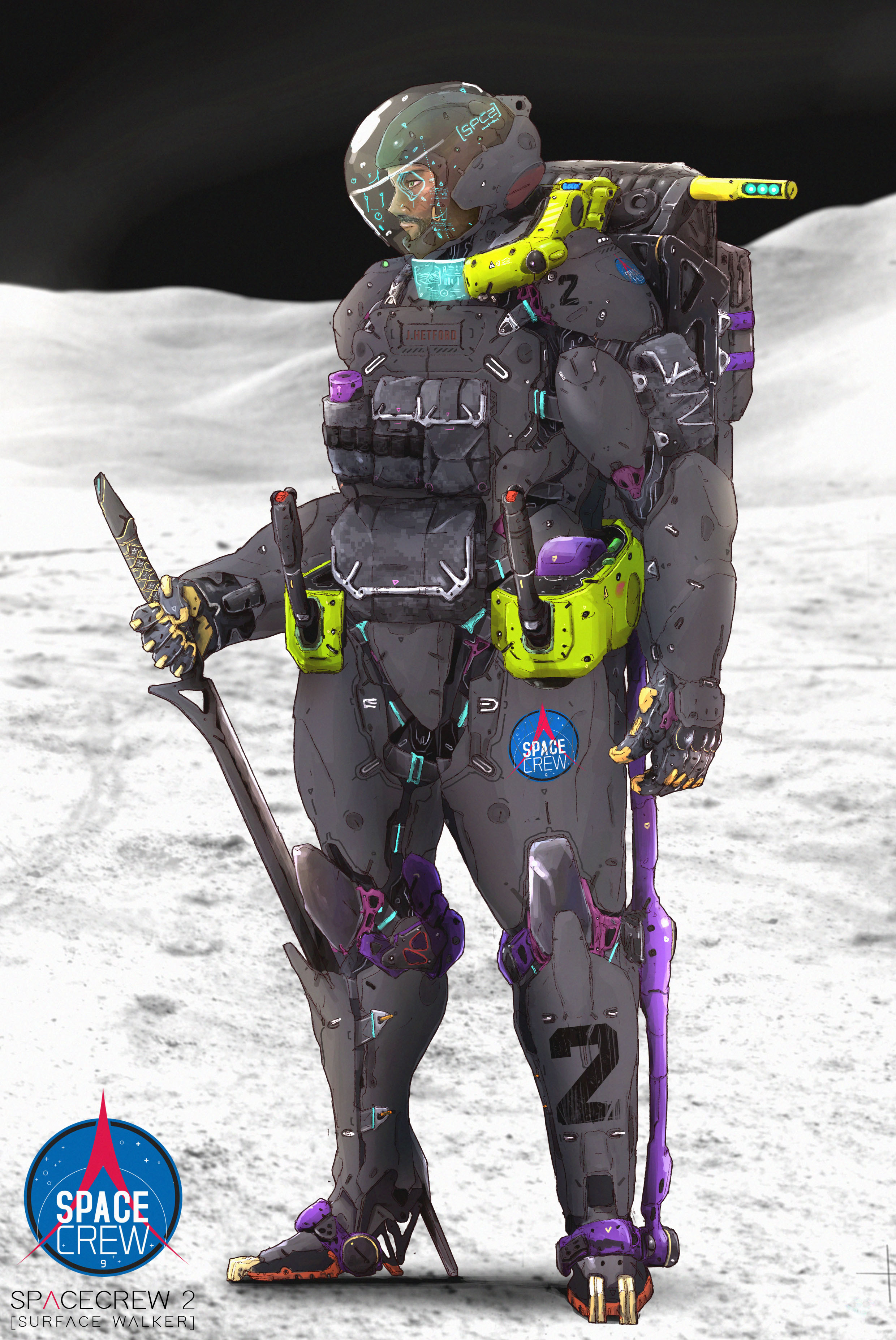 Moon Walker | Different colors for different planets...