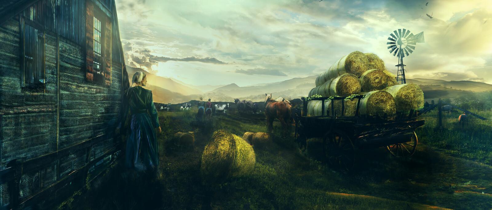 Farmer life - environment concept