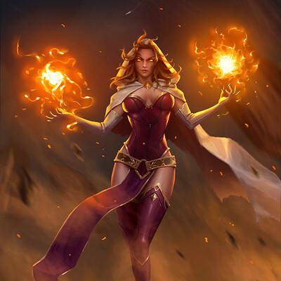 Danvici art danvici art fire wizard