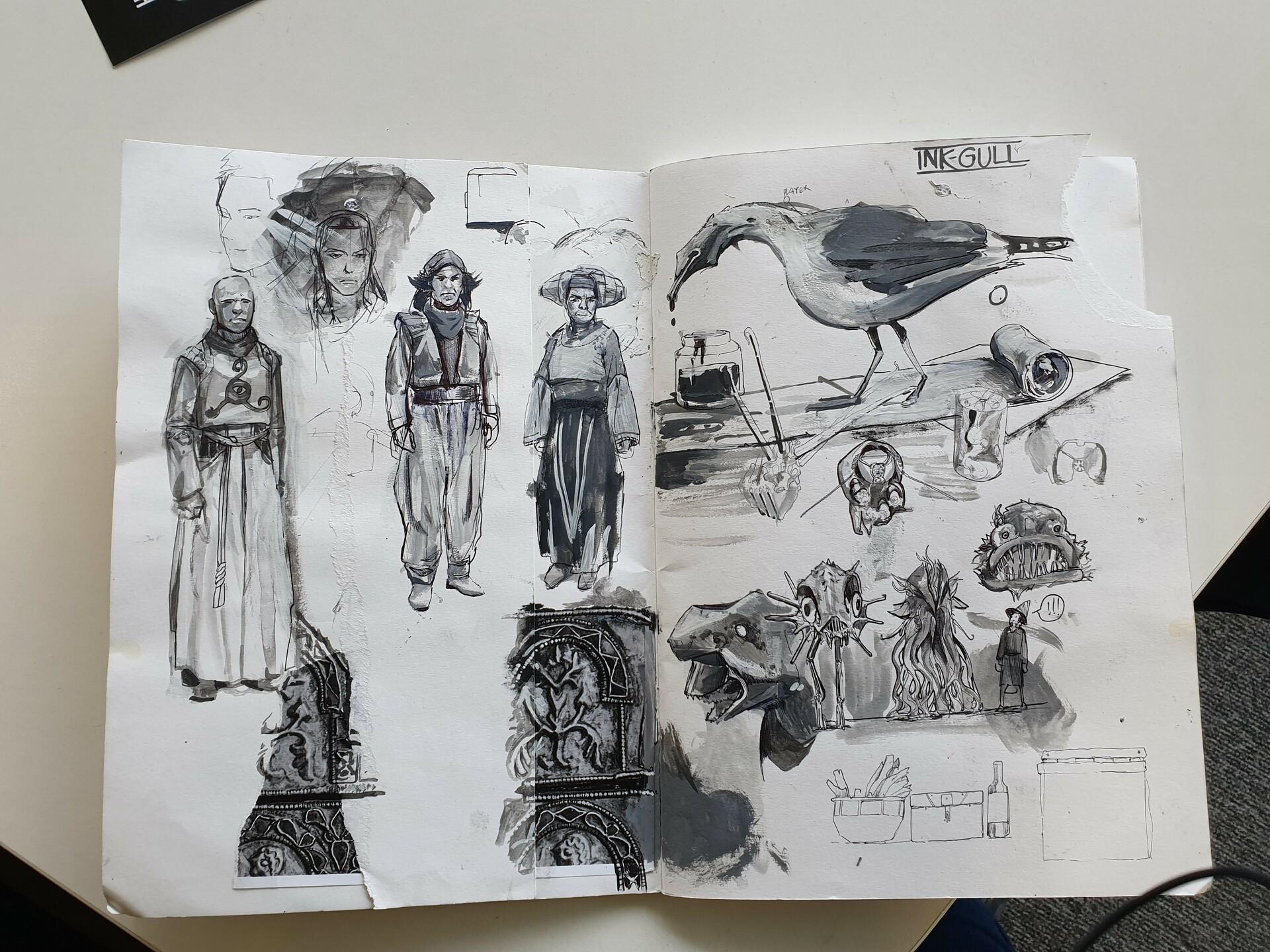 more sketchbook!