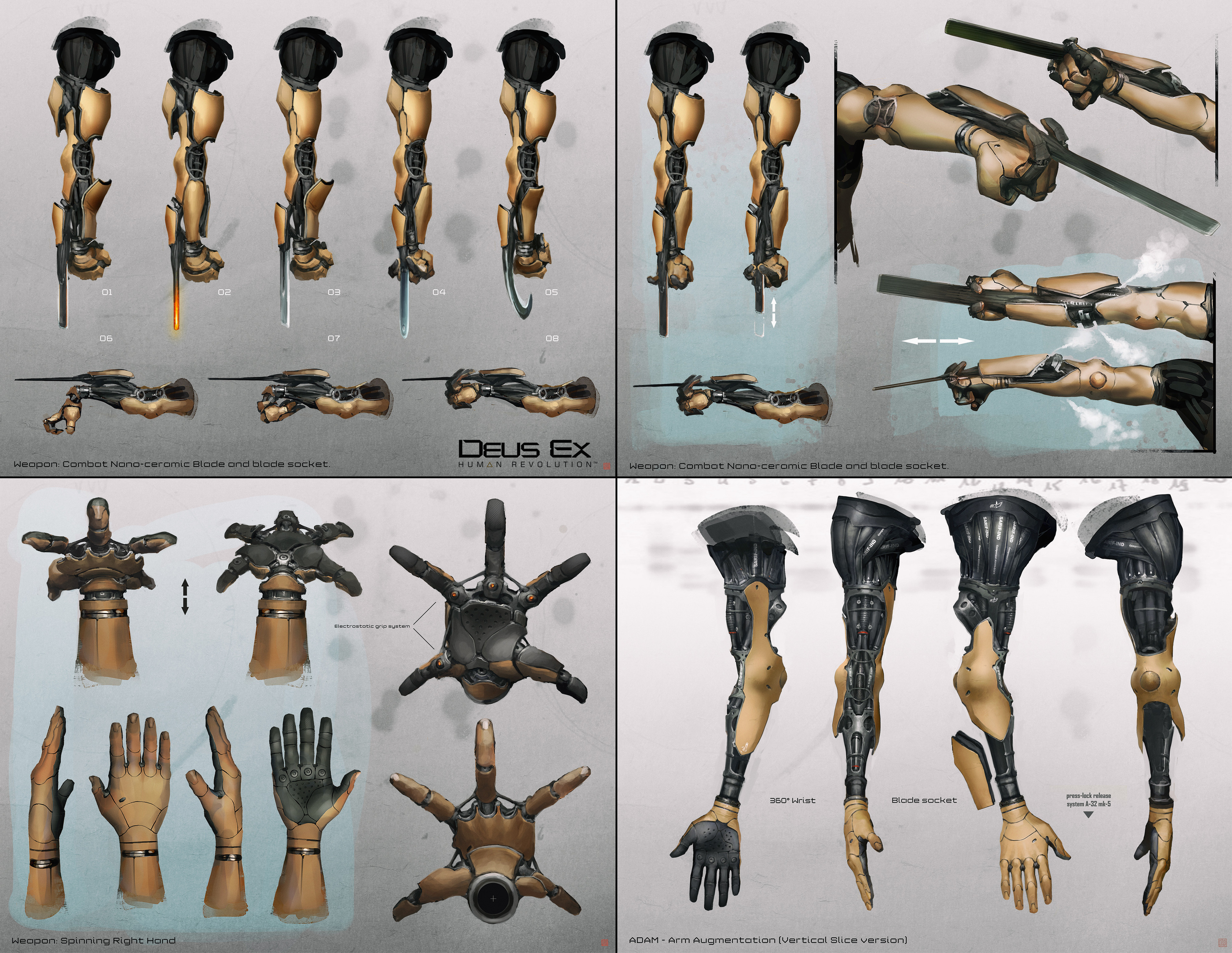 Early researches for Adam Jensen's arm Augmentations...