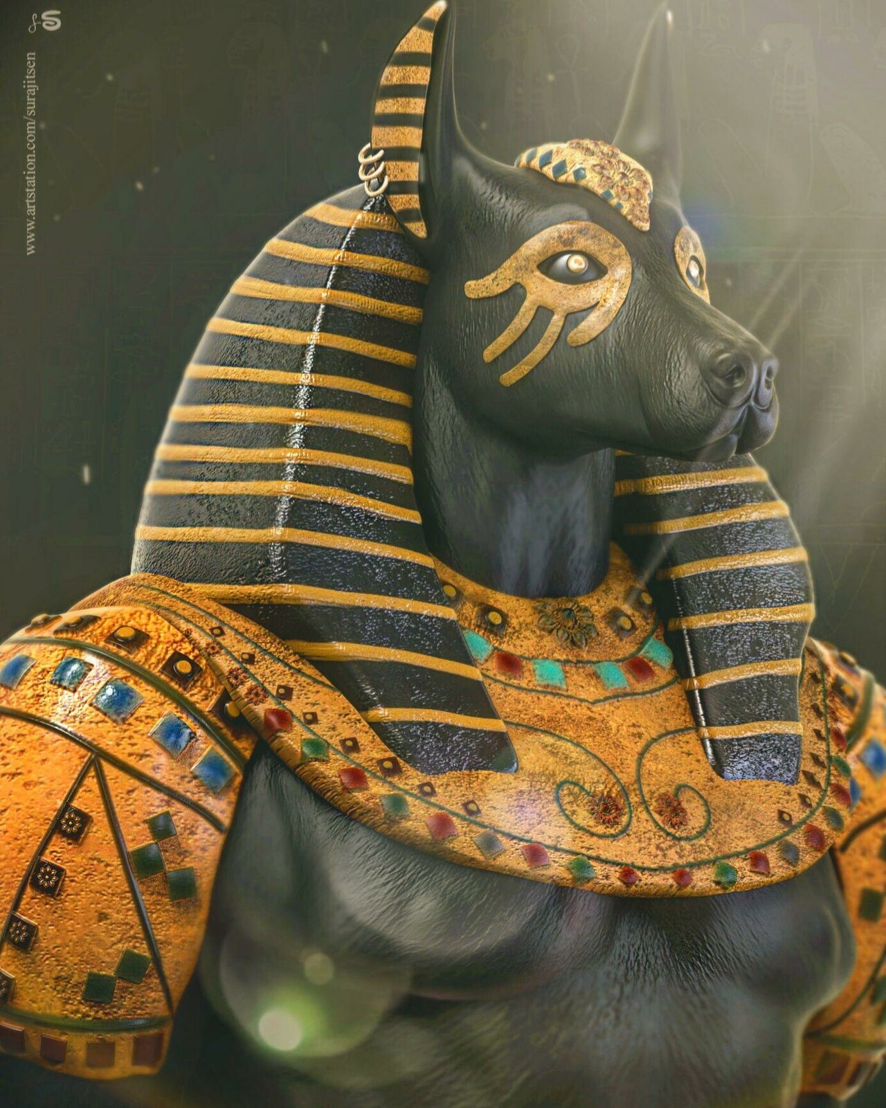 #anubis hashtag#thegodofdeath💀  Updated version one of my old creations.